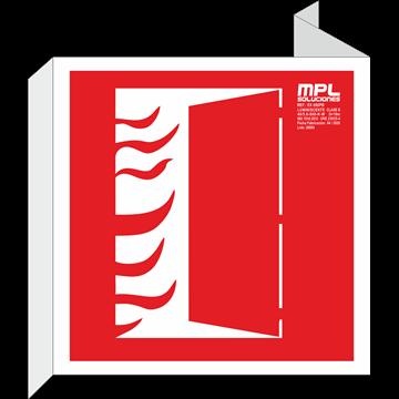 Banderola cuadrada: PUERTA CORTAFUEGOS