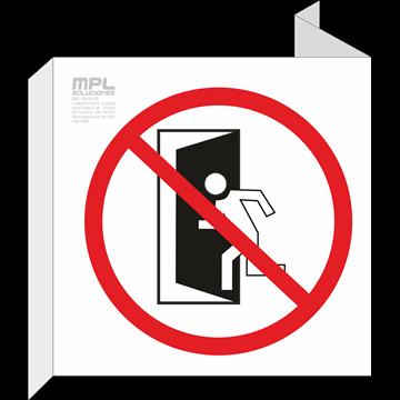 Banderola cuadrada: NO UTILIZAR EN CASO DE EMERGENCIA