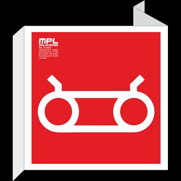 Banderola cuadrada: COLUMNA SECA