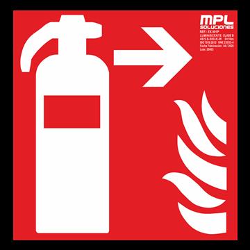 Señal cuadrada: Extintor de incendios derecha