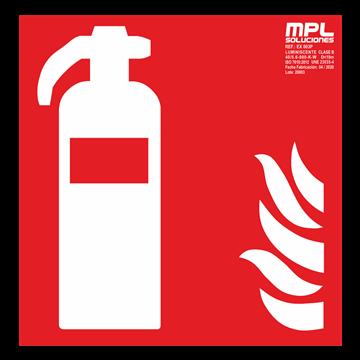 Señal cuadrada: Extintor de incendios