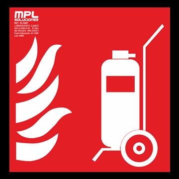 Señal cuadrada: Carro extintor