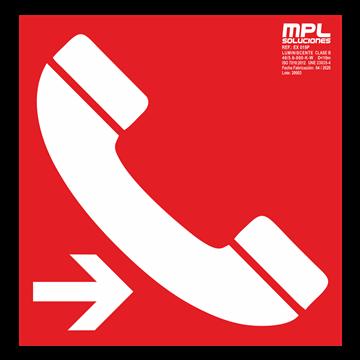 Señal cuadrada: Telefono de emergencia derecha