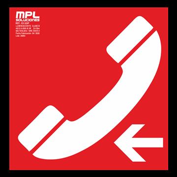 Señal cuadrada: Telefono de emergencia izquierda