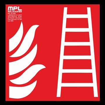Señal cuadrada: Escalera de incendios