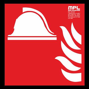 Señal cuadrada: Equipo y conjunto de lucha contra incendios