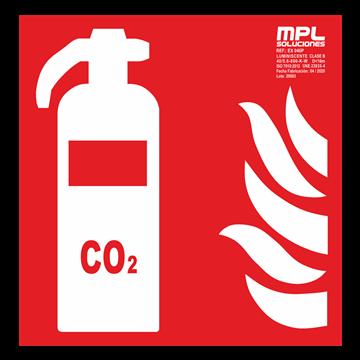 Señal cuadrada: EXTINTOR CO2 RIESGO ELECTRICO