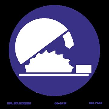 Señal: Uso obligatorio del protector ajustable