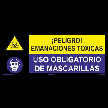 SEÑAL: EMANACIONES TOXICAS - MASCARILLAS