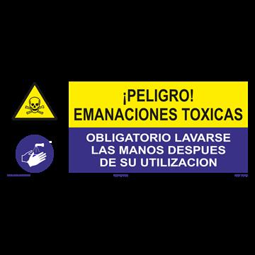 SEÑAL: EMANACIONES TOXICAS - LAVARSE LAS MANOS
