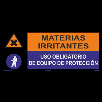 SEÑAL: MATERIAS IRRITANTES - EQUIPO DE PROTECCION
