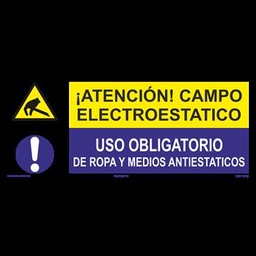 SEÑAL: CAMPO ELECTRO ESTATICO - USO DE ROPA Y MEDIOS ANTIESTATICOS