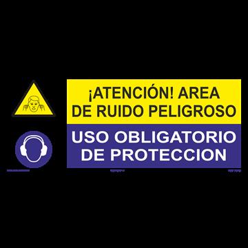 SEÑAL: AREA DE RUIDO PELIGROSO - OBLIGATORIO PROTECCIÓN
