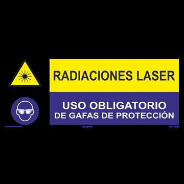 SEÑAL: RADIACIONES LASER - GAFAS DE PRTECCIÓN