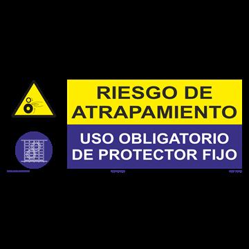 SEÑAL: RIESGO DE ATRAPAMIENTO - PROTECCTOR FIJO