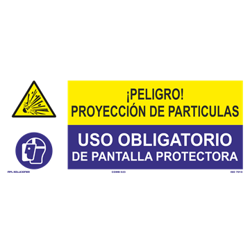 SEÑAL: PROYECCION DE PARTICULAS - USO DE PANTALLA PROTECTORA
