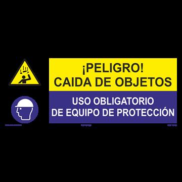 SEÑAL: CAIDA DE OBJETOS - USO DE EQUIPO DE PROTECCIÓN