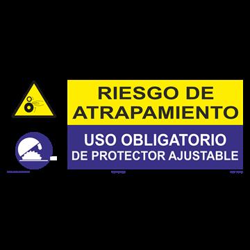 SEÑAL: RIESGO DE ATRAPAMIENTO - PROTECCTOR AJUSTABLE