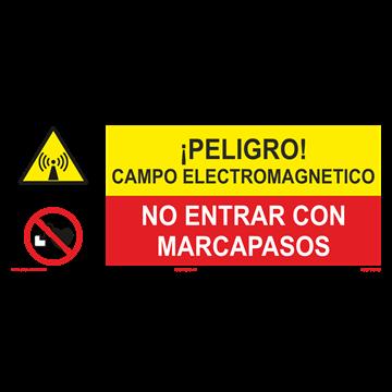 SEÑAL: CAMPO ELECTROMAGNETICO - NO ENTRAR CON MARCAPASOS