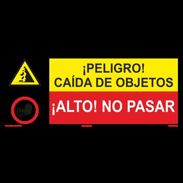 SEÑAL: CAIDA DE OBJETOS - NO PASAR