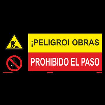 SEÑAL: OBRAS - PROHIBIDO EL PASO
