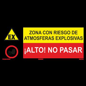 SEÑAL: RIESGO DE ATMOSFERA EXPLOSIVA - NO PASAR