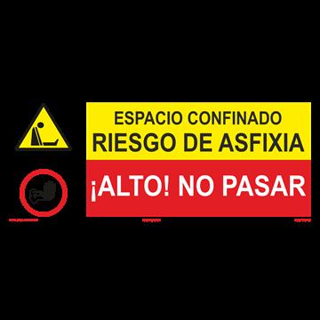 SEÑAL: RIESGO DE ASFIXIA - NO PASAR