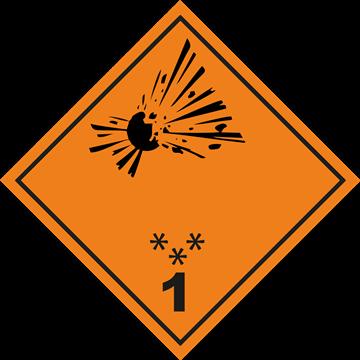 Señal Clase1 adhesiva Materias y Objetos Explosivos.(1)