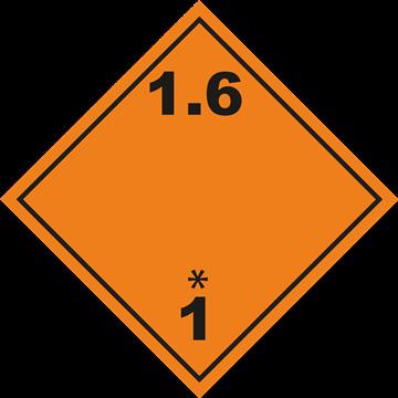 Señal Clase1 adhesiva materias y Objetos Explosivos.(1.6)
