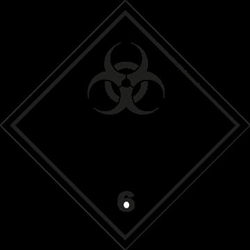 Señal Clase 6 adhesiva materiales infecciosos
