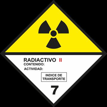 Señal Clase 7 adhesiva materias radioactivas II.