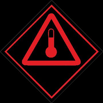 Señal Clase 9 adhesiva productos calientes