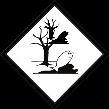 Señal adhesiva peligro para el medio ambiente
