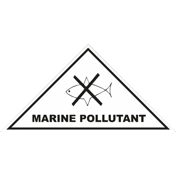Señal adhesiva peligro para el medio ambiente marino