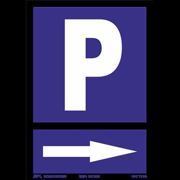 Señal: Parking dcha.