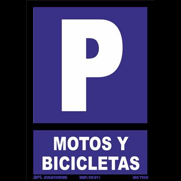 Señal: Parking Motos y Bicicletas.