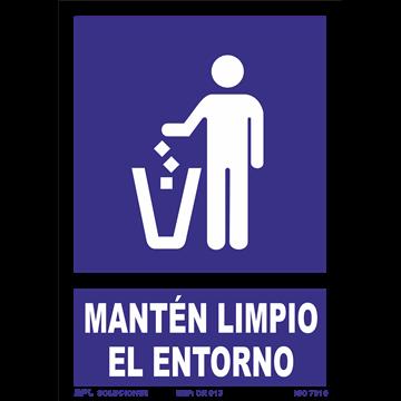 Señal: Manten Limio el Entorno