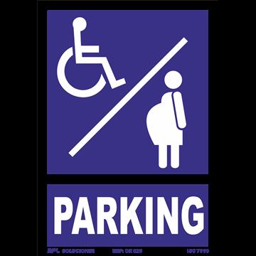 Señal: Modelo: Parking EMBARAZADA/MINUSVALIDO