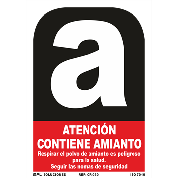 Señal: Modelo: Atencion contiene Amianto