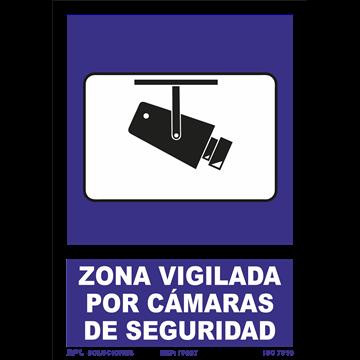 Zona Vigilada por camaras de seguridad