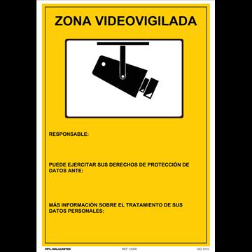 Cartel Zona Videovigilada