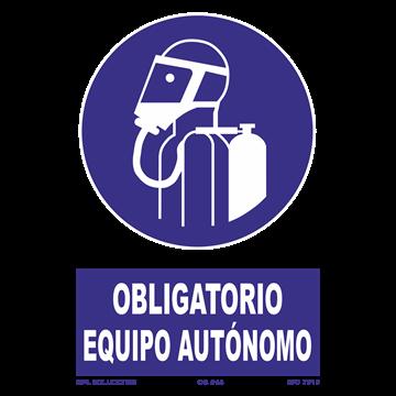 Señal: Obligatorio equipo autonomo