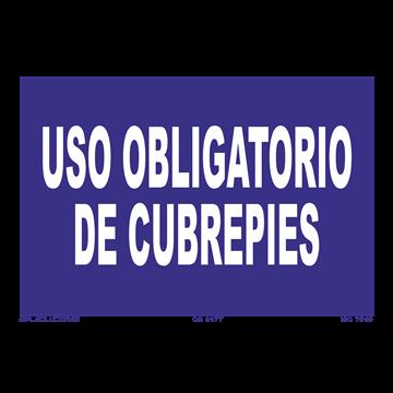 Señal: Uso obligatorio de cubrepies
