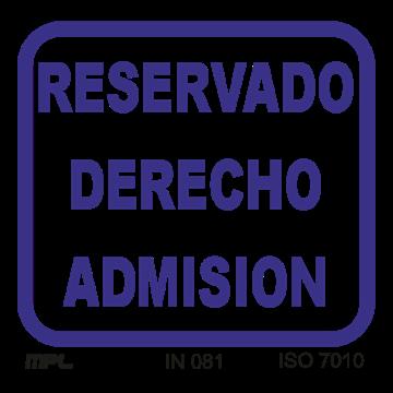 Reservado derecho de admision