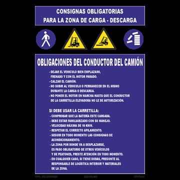 Cartel Consignas Obligatorias