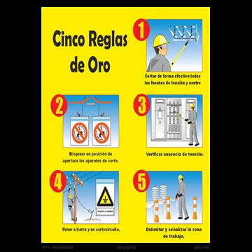 Cartel Cinco reglas de Oro