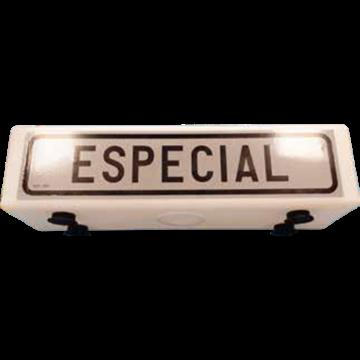 Cartel Vehículo Especial sin luz