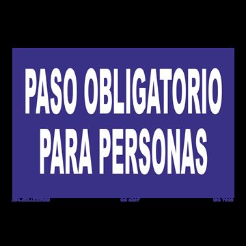 Señal: Paso obligatorio para personas