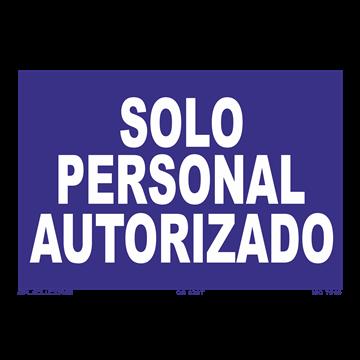 Señal: Solo personal autorizado