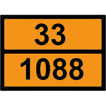 Placa Mercancias Peligrosas 30x40 cm